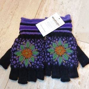 NWT Eastland Alpacas Twilight Fingerless Gloves